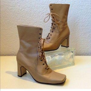 Cinderella of Boston Leather Granny Boots Size 5